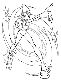 Winx Club Coloring Pages Layla Coloring Page Easy And Fun To Draw