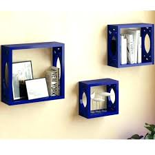 square floating shelf square floating shelves blue floating shelves set of 3 navy blue square cube