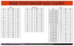 Nike Men Shoes Size Chart Nike Size Chart Women Bedowntowndaytona Com