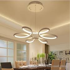 chandelier lighting re led lamp modern hanging light fixture aluminium ceiling plate remote control chandeliers living room pendant lamp shade pendant