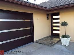 modern garage doors. Garage Doors Matching Entry Sleek Horizontal Glass Inlays With Lamp Modern R