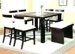 round counter height table set sets with 8 chairs bench and storage glass top dining table