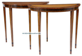 small demilune hall table. Small Demilune Hall Table For Modern Style Pair Of Demi Lune Satinwood And Ebony Consul