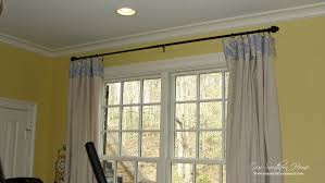 Diy Drop Cloth Curtains No Sew Drop Cloth Curtains Our Southern Home