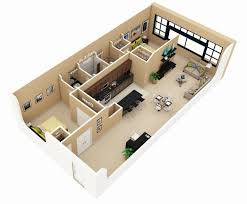 home plans 3d 2 bhk awesome beautiful 3 bedroom house plans mariero