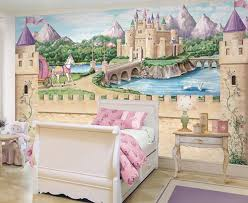 Enchanted Kingdom Castle Wall Mural Castle Wall Mural for Your Little Girls  Bedroom