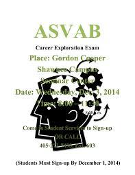 asvab career exploration exam shawnee economic development 2014 asvab flyer shawnee gctc 1