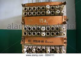 old fuses in a fuse box stock photo royalty image  old fuses in a fuse box stock photo