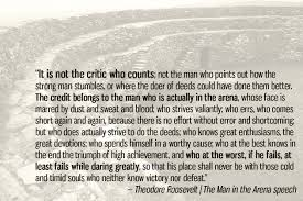 Teddy Roosevelt Quotes Man In The Arena Top Ten Quotes