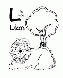Letter L Alphabet Coloring Pages For Kids Letter L Words