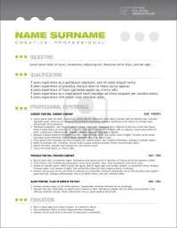 Resume Templates Professional 83 Images Free Simple