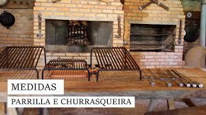 Churrasqueira em tijolo refratário e betão, para carvão e lenha, recomendado para 10 pessoas. Medidas Da Parrilla E Churrasqueira Youtube