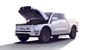 Tesla Electric Pickup Truck Ram Look-Alike Render Surfaces On Video