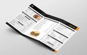 Take Out Menu Template 016 Take Out Menu Template Ideas Free Trifold Inside Tri Top