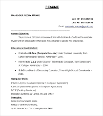 Resume Format Free Download Freshers Resume Format Template Free