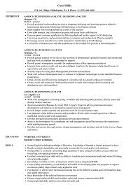 Sample Business Analyst Resume Associate Business Analyst Resume Samples Velvet Jobs 57