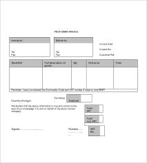 Proforma Invoice Template Word 12 Proforma Invoice Templates Pdf Doc Excel Free Premium