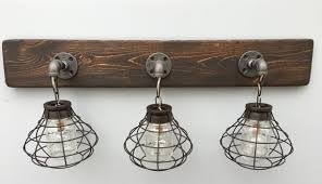 rustic bathroom lighting. gorgeous rustic modern vanity lighting 3 mason jar light fixture with shade aftcra bathroom