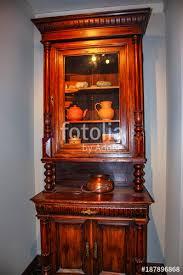 vintage wooden cupboard in the room