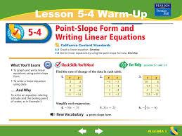 1 algebra 1 lesson 5 4 warm up