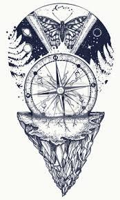 Fototapeta Vesmírné A Motýlové Tetování Symbol Esoteriky Mystiky Astrologie