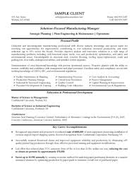 Manufacturing Manager Resume Example Resume References