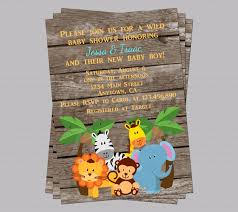 popular items for jungle baby shower on invites zoo animal invitations boy room theme stick