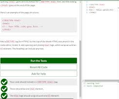 Help : The html tags should wrap around one h1 element - HTML-CSS ...