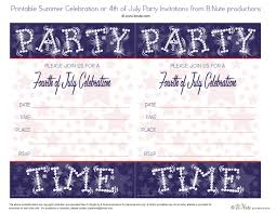 free printable fourth of july starry night invitations by b nute ions