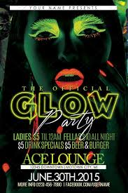 glow flyer glow party flyer psd room