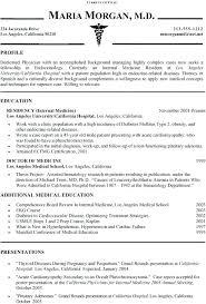 Template Residency Physician Cv Medical Officer Word Aplicatics
