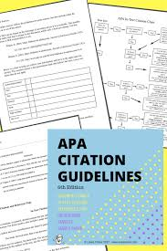 Apa Citation Guidelines My Curriculum English Teaching Resources