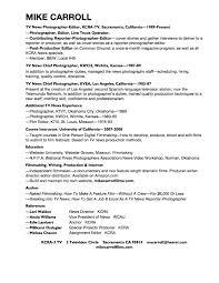 100 Sample Resume For Photographer Photographer Resume
