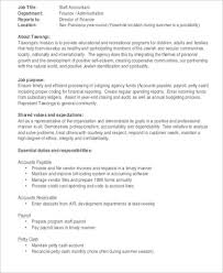 Payroll Accountant Job Description Sample 7 Examples In