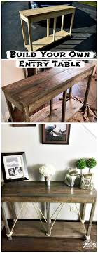 Diy entry table plans Rustic Diy Wooden Entryway Table Diy Entry Table Diy Entry Table Plans Diy Home Decor Diy Entry Table Ideas To Make Your Entryway Perfect Diy Home Decor