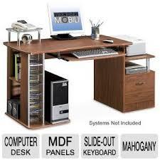 TECHNI MOBILI RTA-2202-M Deluxe Wood Computer Desk