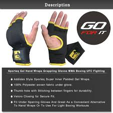 Hand Wrap Gloves Sporteq Mma Gloves Boxing Hand Wraps Fist Protector Inner Gel