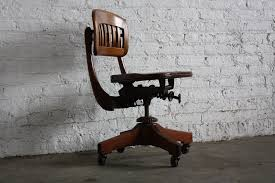 industrial office chair. U.S.A Stunning Sikes Vintage Scuplted Walnut Industrial Swivel Office Desk Chair (Early 20th Century,
