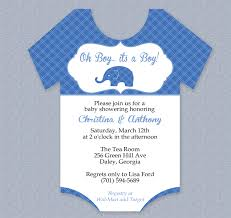 baby shower invite template word plaid elephant onesie baby shower invitation editable cutout