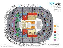 Sap Center Seating Chart Concert Seventeen Sap Center