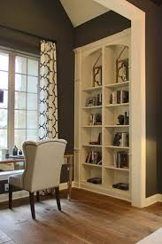 white office bookcase. Burrows Cabinets\u0027 Built-in Office Bookshelves With Arched Top In Bone White Bookcase L