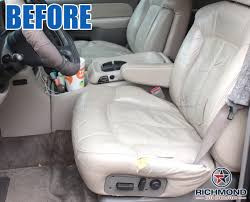 2000 2002 chevy tahoe suburban lt ls z71 leather seat cover driver lean back tan