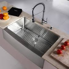 Farmhouse Apron Kitchen Sinks Kraus Kitchen Combo 33 X 21 Single Basin Farmhouse Apron Kitchen