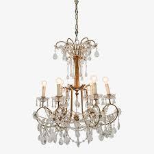 vintage brass crystal chandelier enlarge image exit full screen