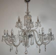 pair of 15 arm italian crystal chandeliers