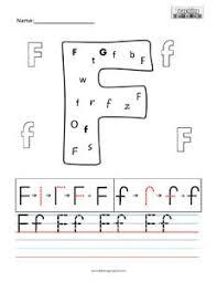 Letter F practice teaching worksheets