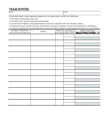 free printable roster template basketball roster template hockey free printable excel
