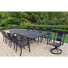 oasis outdoor patio furniture 11 piece dining set designs