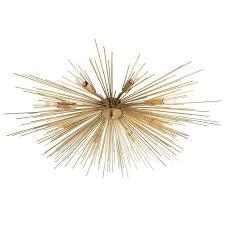 roxanne 8 light sputnik gold flush mount