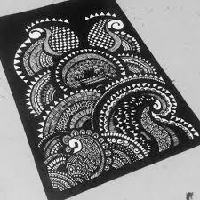 Art Doodle Doodle Art Frame Mandala By Meyyammai